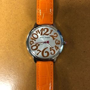 Betsey Johnson Orange Watch